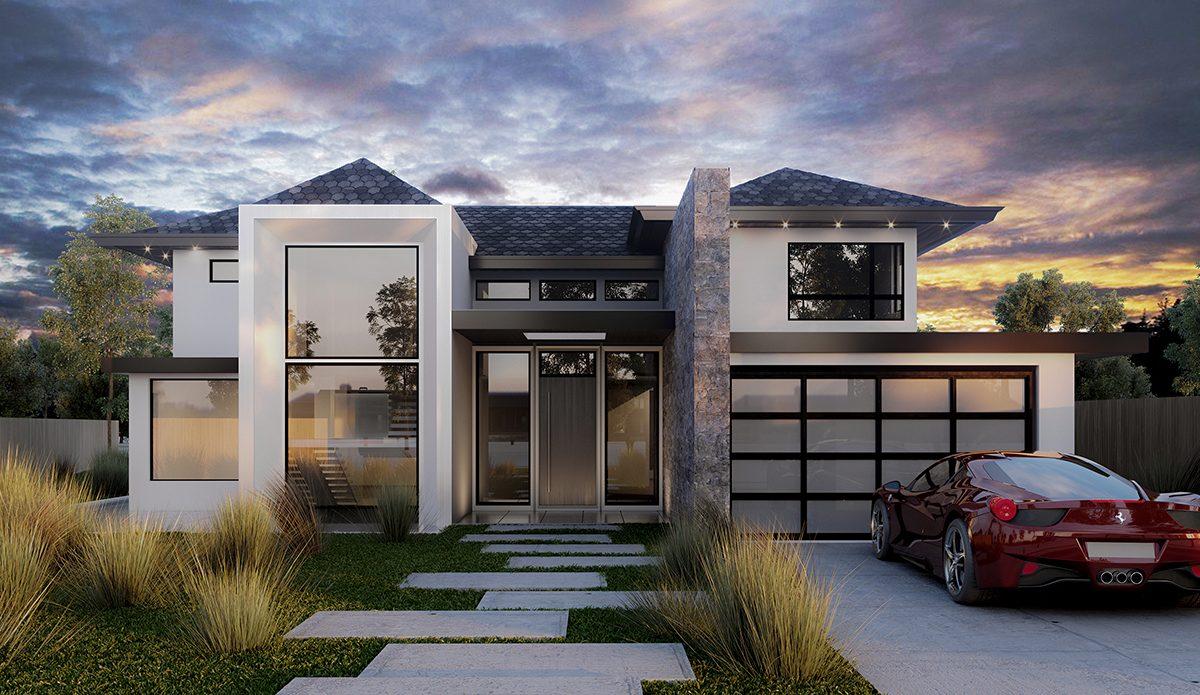 exterior house rendering Amanda Aerin